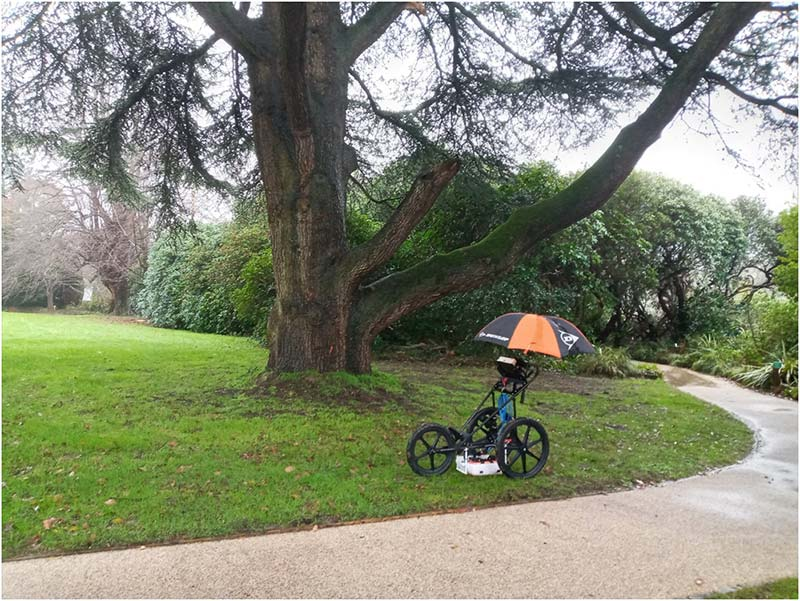 Tree Radar Scanning Cart For Root Surveys - ArborAeration